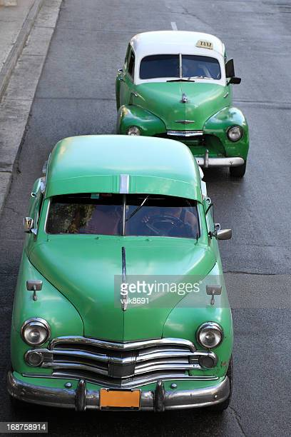 Old Cuban taxis