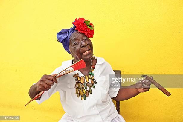 Alten kubanischen Frau