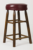 Have you seen this great old bar stool type chair? Shot on a plain white background. Maybe a seat for a comic or a great place for some fruit? Who knows? Really, you can decide what goes there. Buy fr