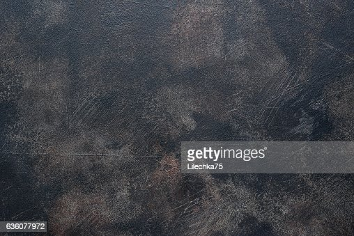 Old dark rusty metal pan. : Stock Photo