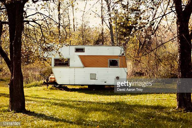 Old deserted trailer