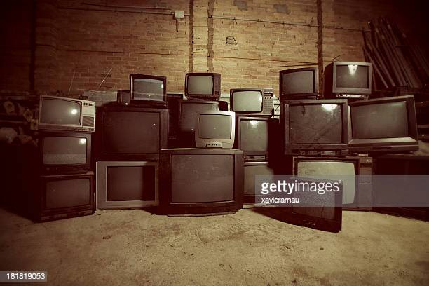 Old dirty televisions