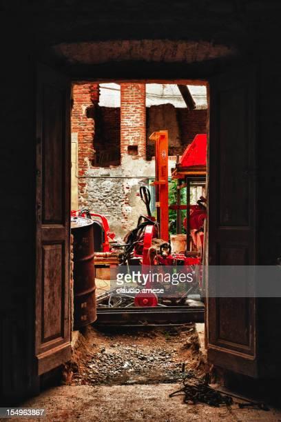 Vieille porte. Image en couleur