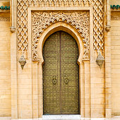 olddoor in morocco  africa ancien and wall ornate brown
