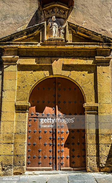 Old door in Segovia, Spain