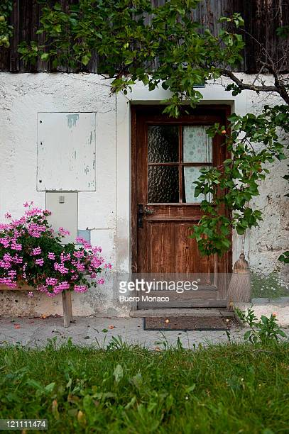old door of farmer house in austria