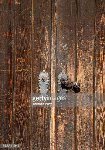 Old Door with historic door handle