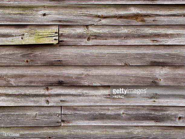Old Dry Wooden Exterior Wall