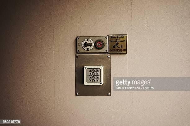 Old Electric Control Panel On Wall