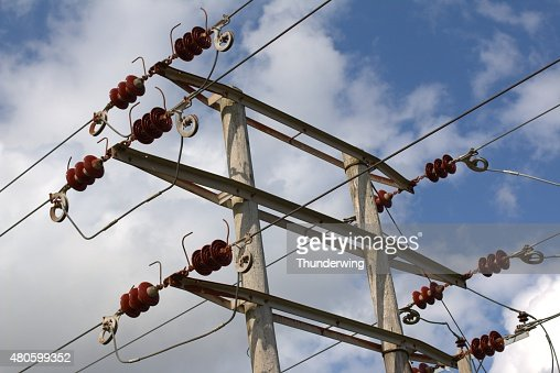 Old Electricity Power Lines : Stock Photo
