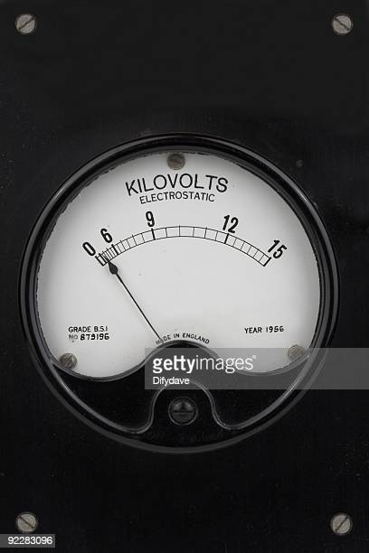 Old Elektrostatische Kilovolt Meter