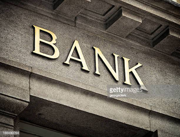 Old Fashioned Bank-Schild