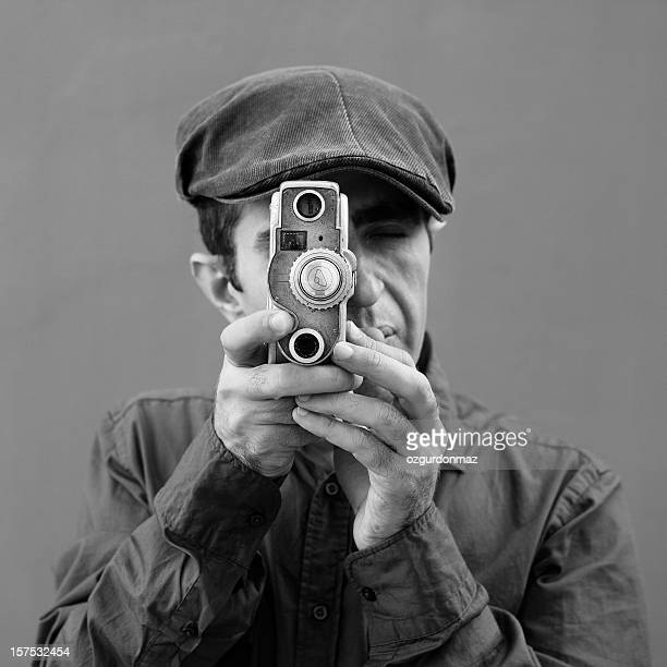 Old fashioned cameraman