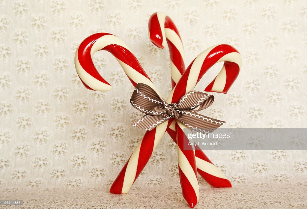Old fashioned candy canes : Stock Photo