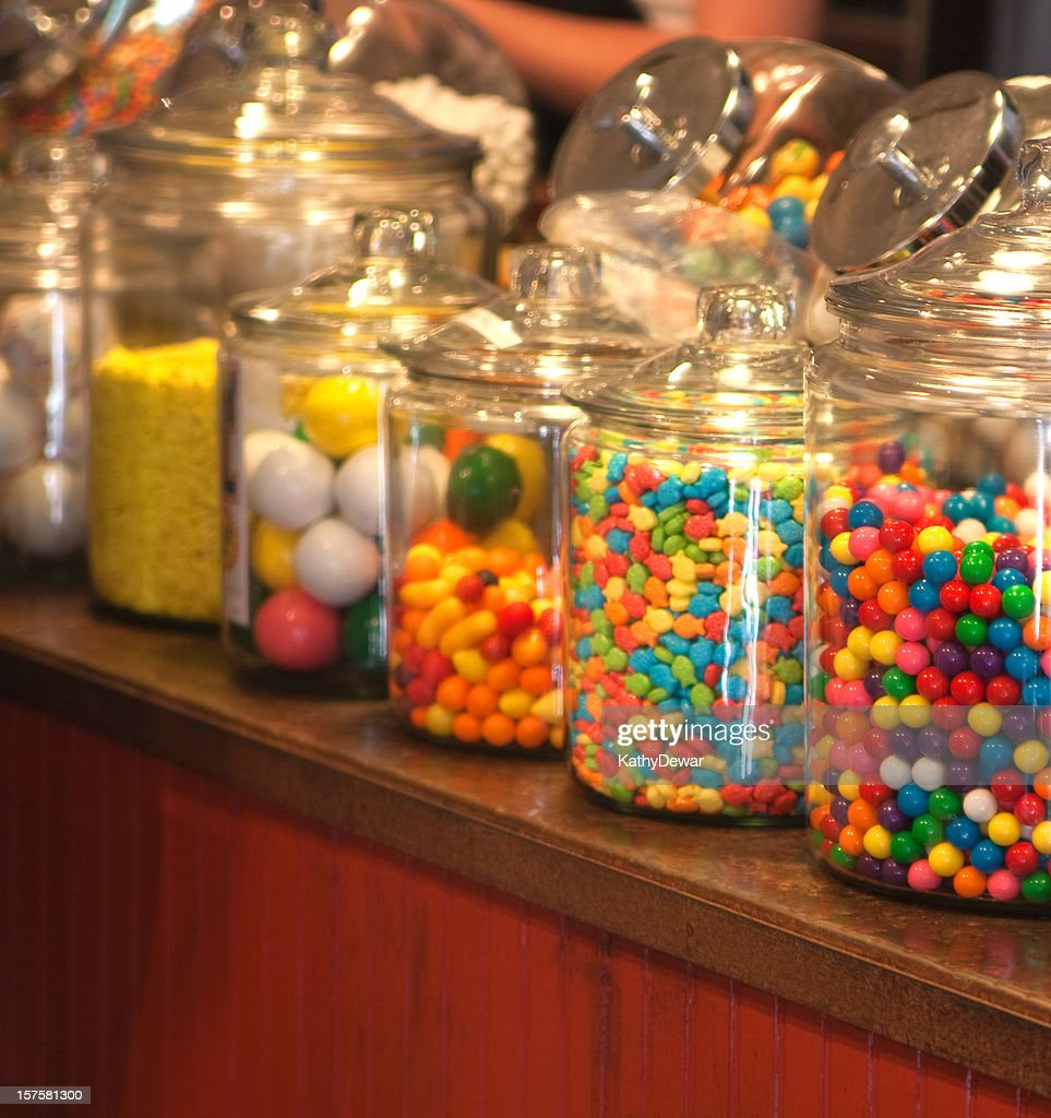 old fashioned candy store stock photo