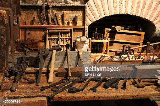 Amazing Planer On Wood In Rusty Background Old Fashioned Manual