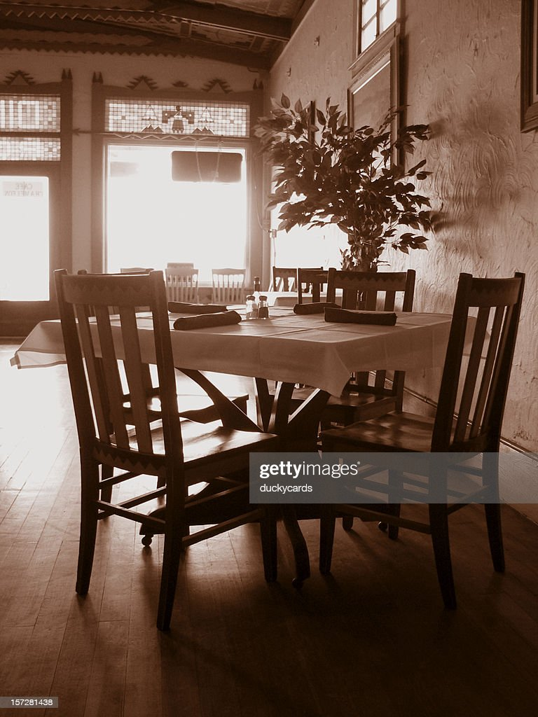 Old Fashioned Dining : Stock Photo