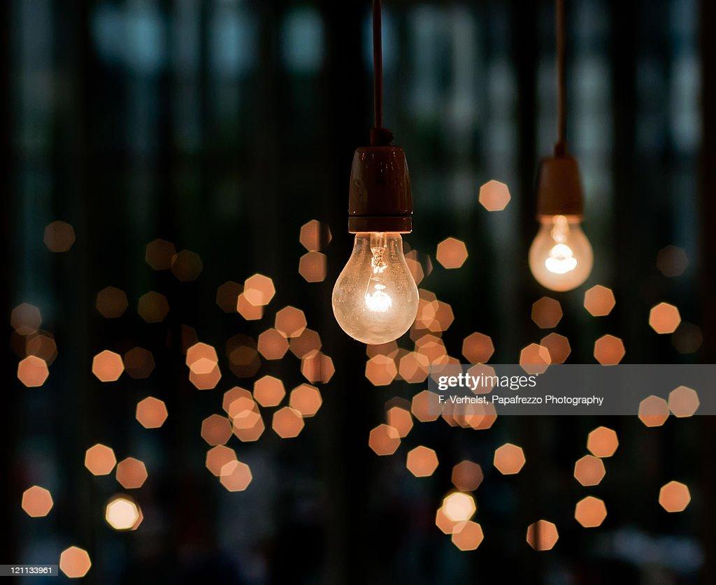 Old fashioned light bulbs : Stock Photo