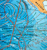 An old map of the ocean currents in the Pacific off Central and South America... in Spanish.  [url=/search/portfolio/671401wwing]PLEASE CLICK HERE TO ACCESS RICHARD GOERG'S COMPLETE PORTFOLIO[/url] [u