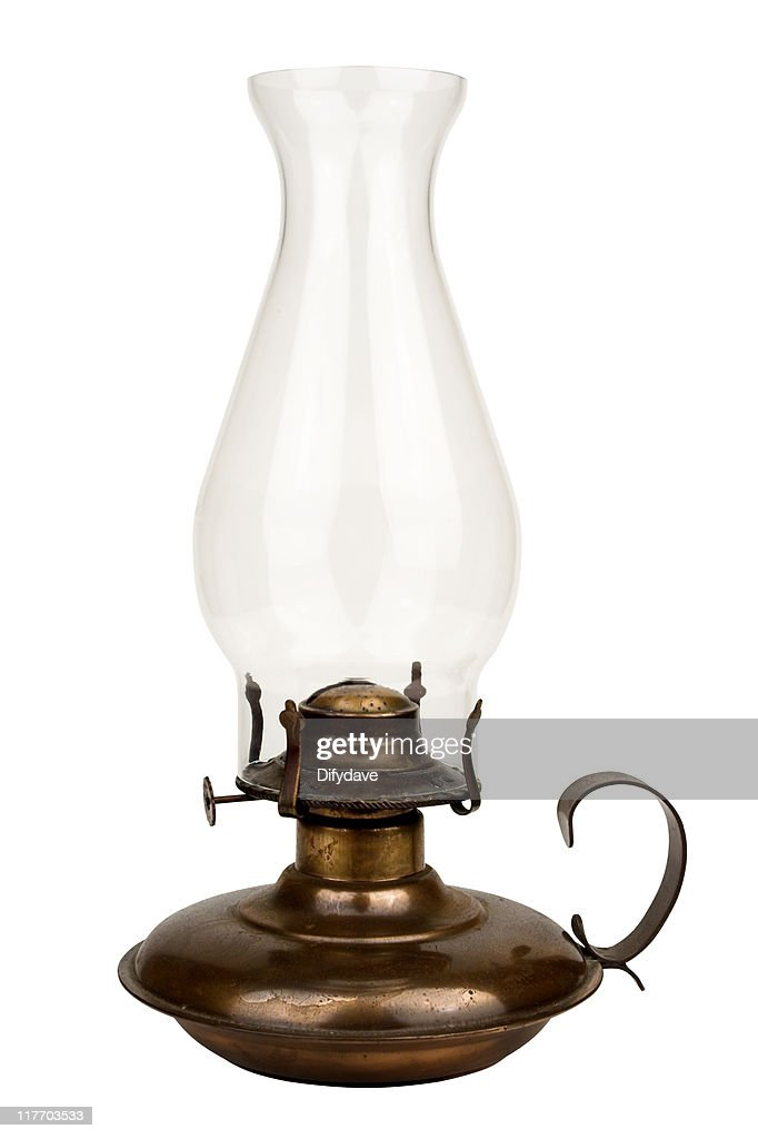 old fashioned oil lamp isolated on white stock photo. Black Bedroom Furniture Sets. Home Design Ideas