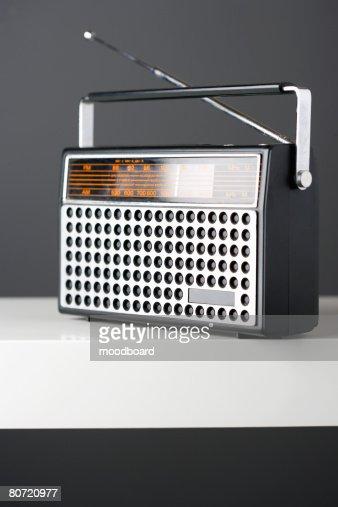 Old fashioned radio studio shot