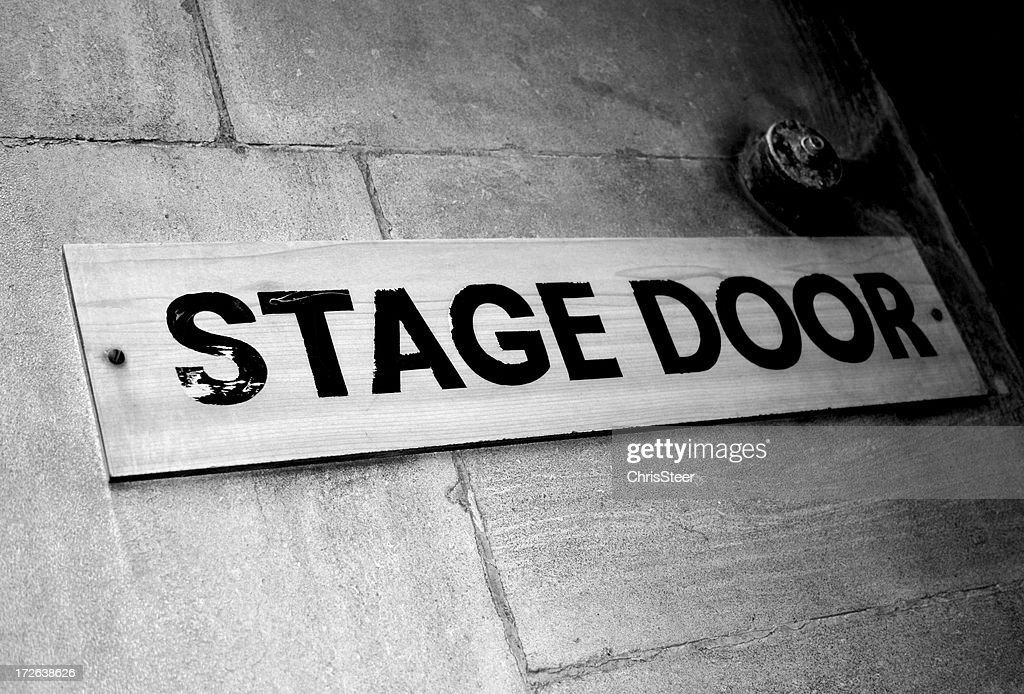Old Fashioned Stage Door Sign