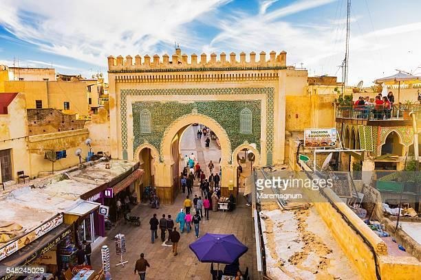 Old Fes, Medina, view of Bab (gate) Boujeloud