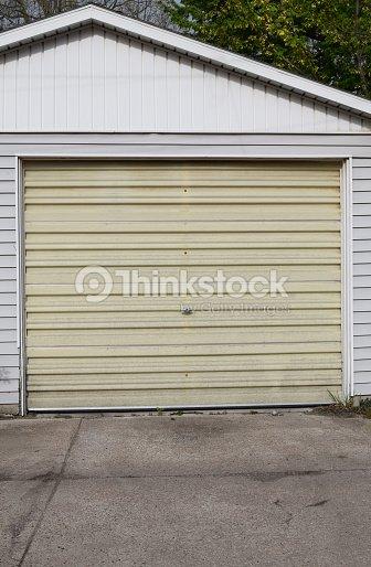 Old Garage Doors : Old fiberglass garage door stock photo thinkstock
