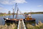 Old fishing boat Zuiderzee museum Enkhuizen Netherlands