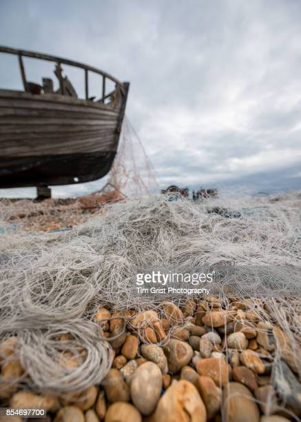 Old Fishing Nets on a Pebble Beach, Dungeness
