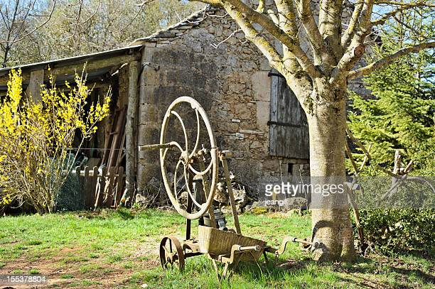 Old French farmhouse in spring
