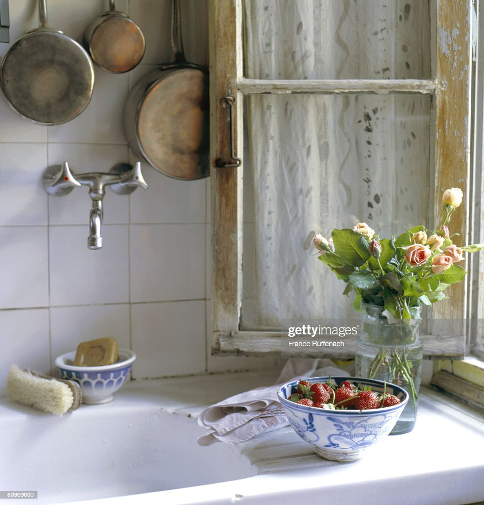 Used Old Old French Kitchen Sink Stock Photo | Getty Images On Corstone  Sinks, Used Farm Sinks ...