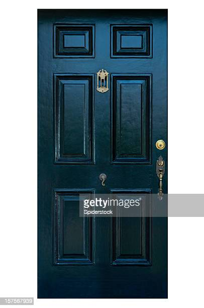 Old Front Door With Clipping Path