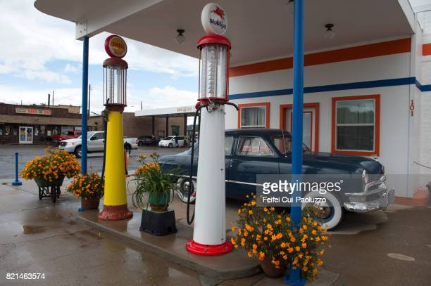 Old gas station at Williams, Coconino county, Arizona, USA