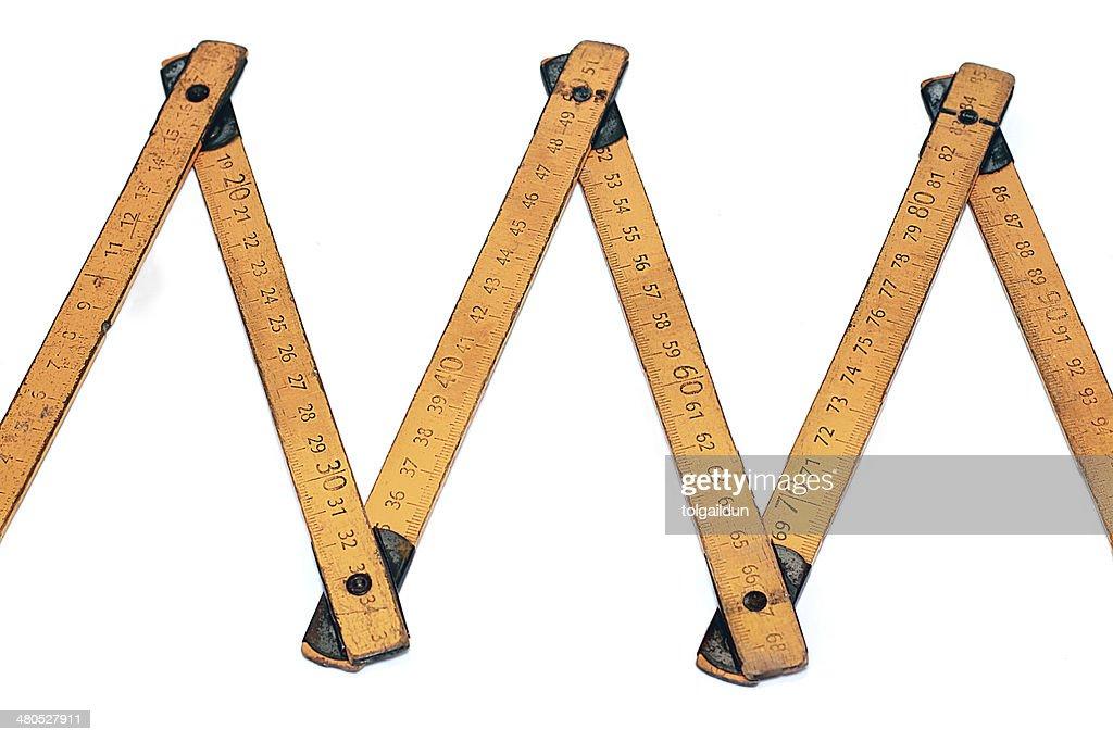 Misuratore di lunghezza di primo piano : Foto stock