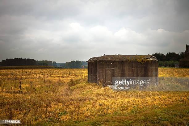 Old German bunker in a Belgian field