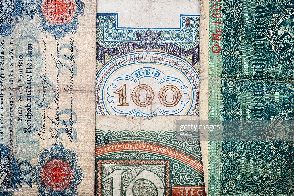 Old german money : Stock Photo
