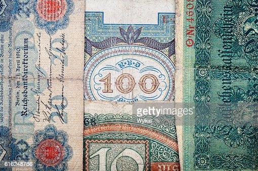 Vecchio tedesco denaro : Foto stock