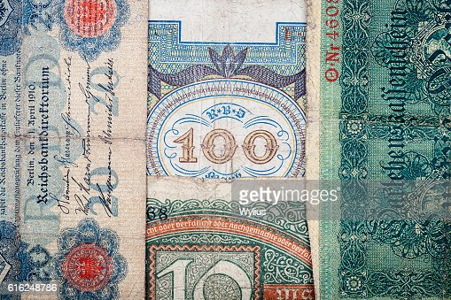 Old german money : Stock Photo