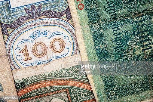 Old alemão Dinheiro : Foto de stock
