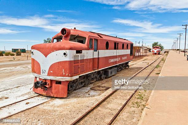 Old Ghan locomotive at Marree
