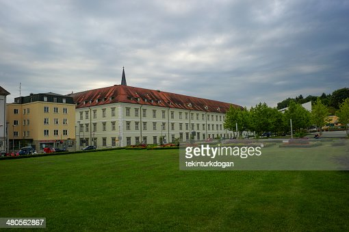 old government buildings at passau germany : Stock Photo