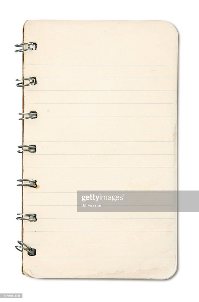 Old Grunge Blank Notebook Page : Stock Photo