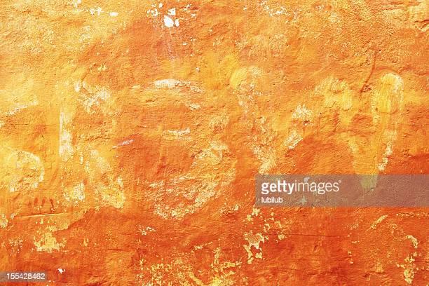 Old grunge, golden wall texture