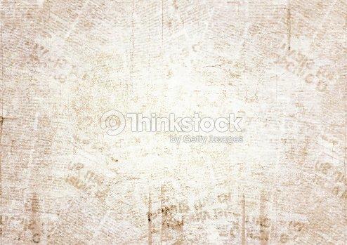 Antiguo Fondo De Textura De Periódico De Grunge Foto De Stock