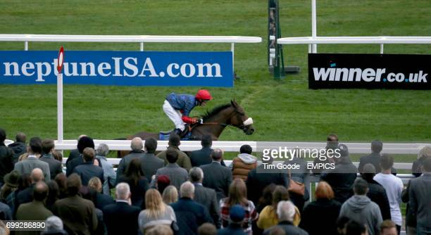 Old Guard ridden by Harry Cobden wins the Harrison James and Hardie Conditional Jockeys' Handicap Hurdle Race during day one of The Showcase at...