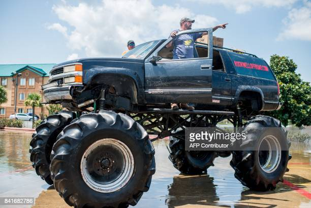 Old Habits the monster truck helps rescue residents through floods in Port Arthur Texas on September 1 2017 Houston was limping back to life on...