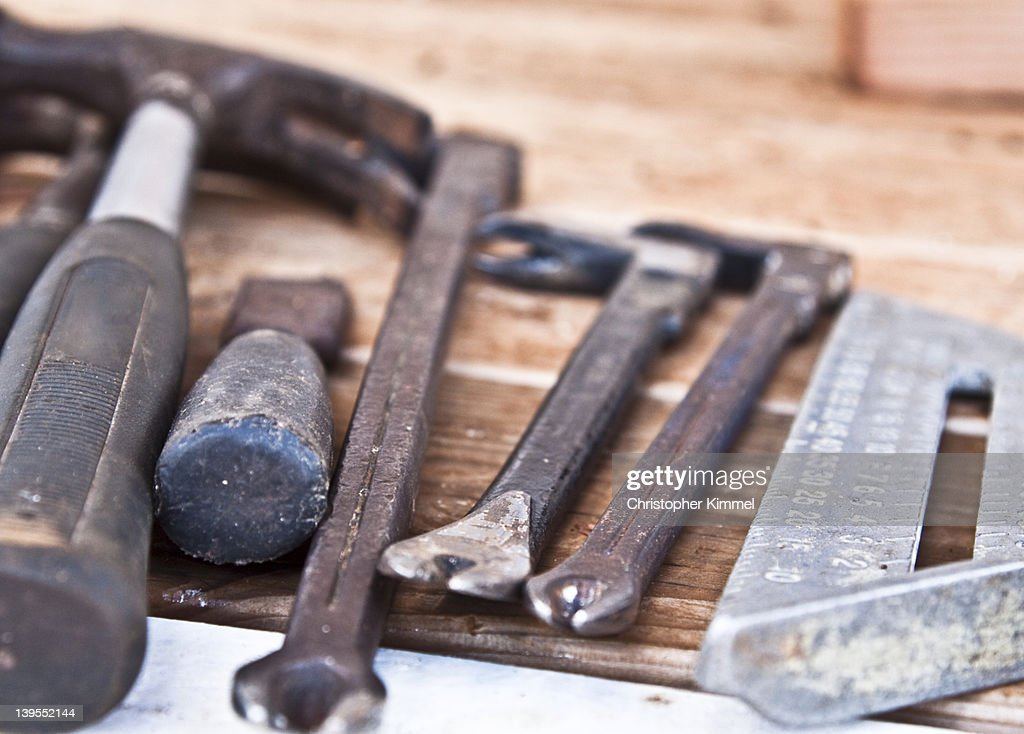 Old hand tools : Stock Photo