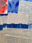 Old love letters on Abstract Background. iPhone