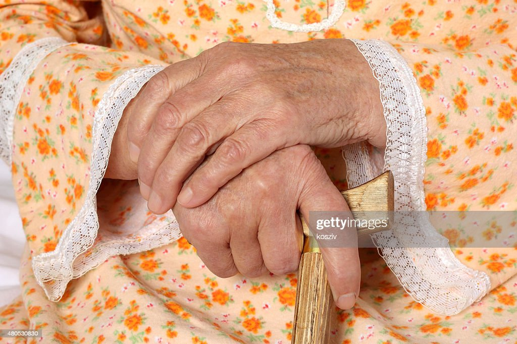 Old hands : Stockfoto